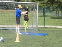 Goalkeeper training with mats