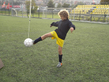 Football soccer voley shoots